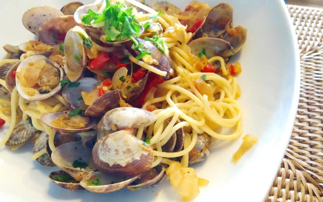 Espaguetis con almejas rxfitters - Espaguetis con almejas ...